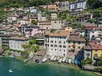 Gandria on lake of Lugano in Switzerland