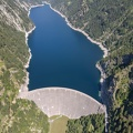 The dam of Sambuco in Maggia valley on the Swiss alps
