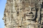 Faces of Bayon temple in Angkor Thom at Siemreap