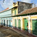 Colorful traditional houses in the colonial town of Trinidad