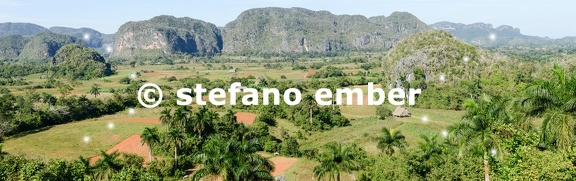 Panoramic view over landscape with mogotes in Vinales Valley