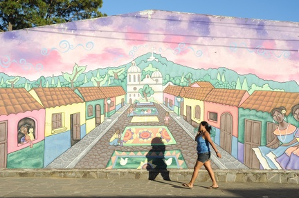 Mural on a house at Conception de Ataco