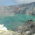 The ijen crater on the island of Java