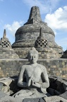 The temple of Borobudur on Java island