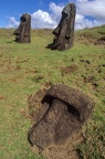 Moais statues on easter island