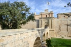Entrance bridge and gate to Mdina