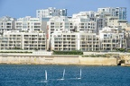Modern residential buildings in Sliema