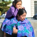 Maya woman with her daughter at San Cristobal de las Casas on Chiapas