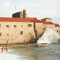 The ocean in front of the citadel of Budva