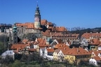 View to church and castle in Cesky Krumlov