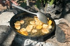 Platones are fried bananas a speciality of Dominican Republic food