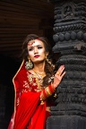 Beautiful bride with traditional clothes at Bhaktapur