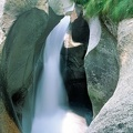 The waterfall of Foroglio on Bavona valley